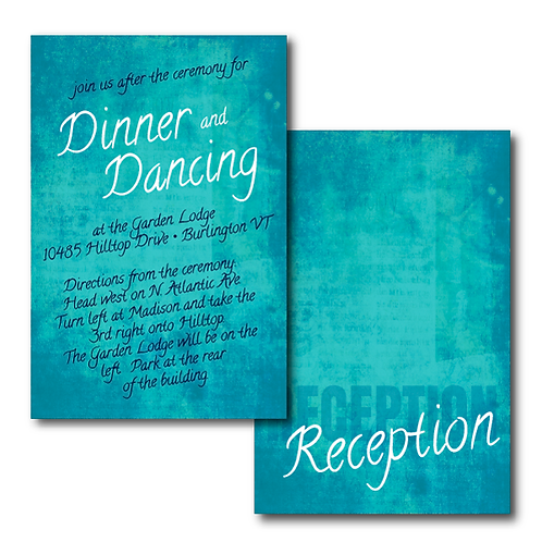 Colorful Canvas Reception / Ceremony Card