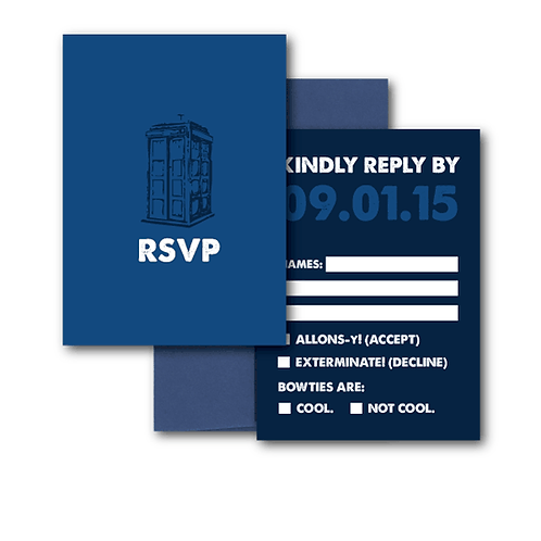 Dr. Who RSVP + Envelope
