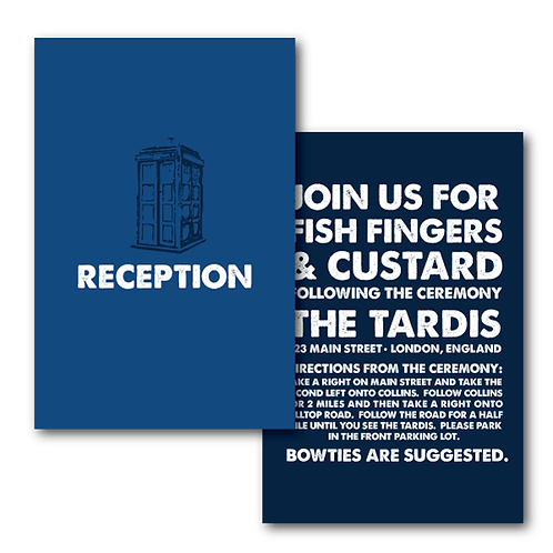 Dr. Who Reception / Ceremony Card