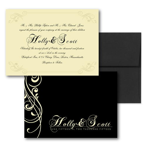 Love Orchestrated Standard Invitation + Envelope