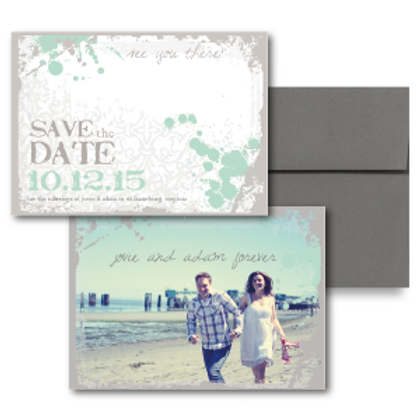 Splash of Awesome Save the Date + Envelope