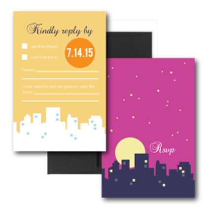 Night and Day RSVP + Envelope
