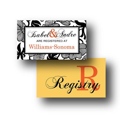 Garden Gala Registry Card