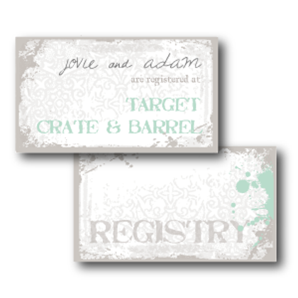 Splash of Awesome Registry Card