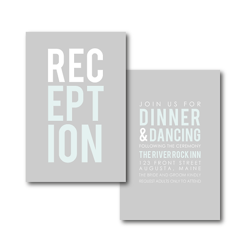 Poster Perfect Reception / Ceremony Card