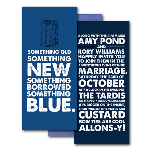 Dr. Who Standard Invitation + Envelope