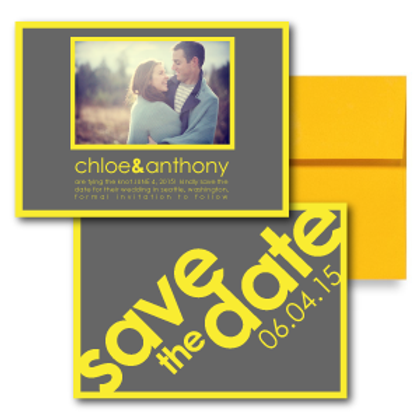 So Fresh and So Clean Save the Date + Envelope