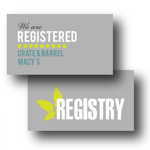 Urban Garden Registry Card