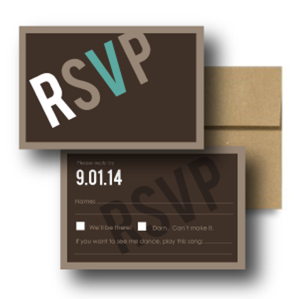 Up, Up, and Away RSVP + Envelope