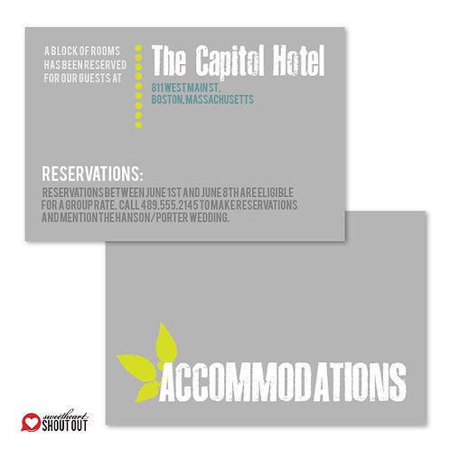 Urban Garden Accommodations / Info Card