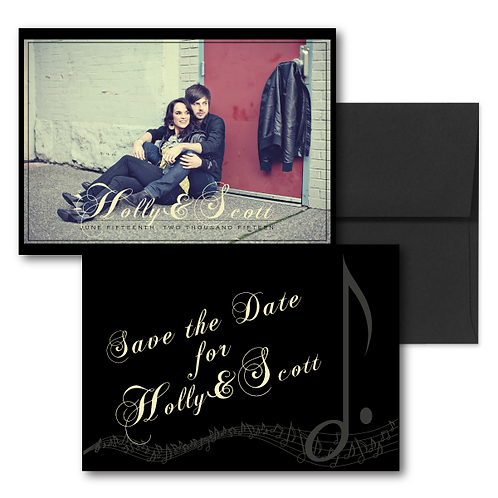 Love Orchestrated Save the Date + Envelope