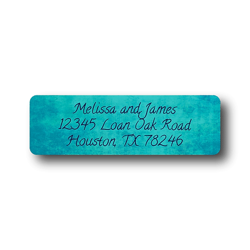 Colorful Canvas Return Address Labels