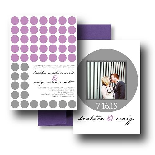 Hot Dots Photo Invitation + Envelope