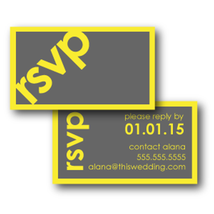 So Fresh and So Clean Phone/Email RSVP Insert Card