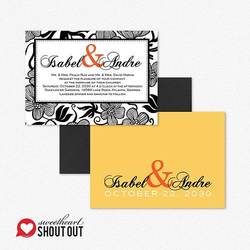 Garden Gala Standard Invitation + Envelope