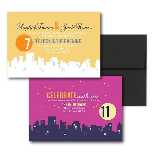 Night and Day Standard Invitation + Envelope