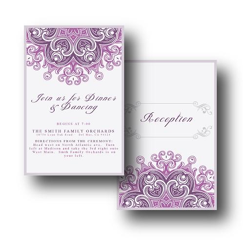 Lovely Lace Reception / Ceremony Card