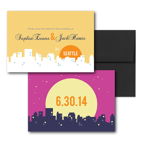 Night and Day Save the Date + Envelope