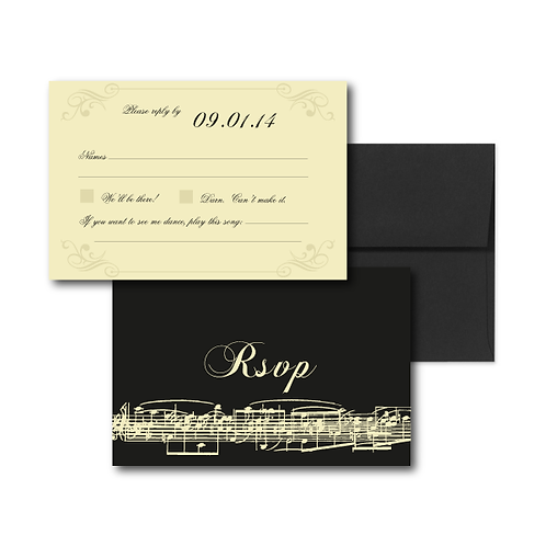 Love Orchestrated RSVP + Envelope