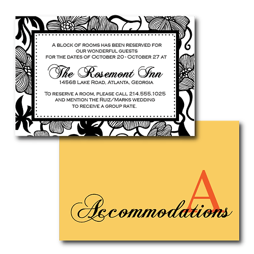 Garden Gala Accommodations / Info Card