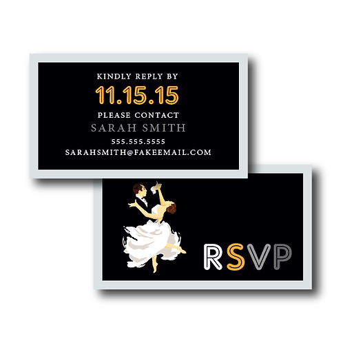 The Gatsby Phone/Email RSVP Insert Card