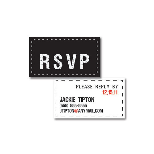 Tag, You're it! Phone/Email RSVP Insert Card