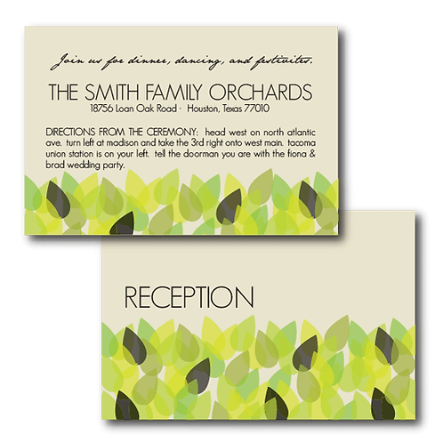 New Leaf Reception / Ceremony Card