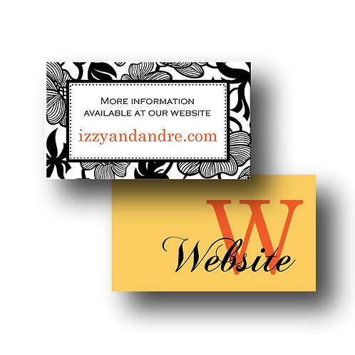 Garden Gala Website Card