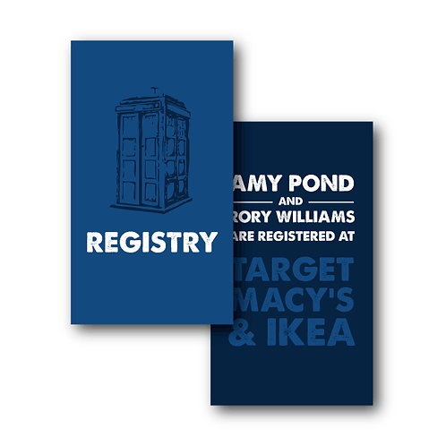 Dr. Who Registry Card