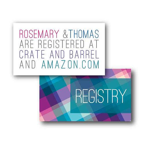 Rad in Plaid Registry Card