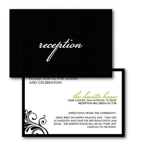 Flourish of the Pen Reception / Ceremony Card