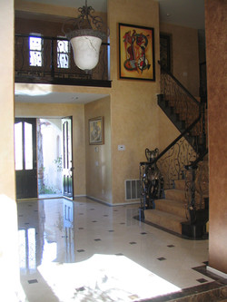 (AFTER). FAUX HANDPAINTED FOYER BY PAUL MAXWELL GODFREY