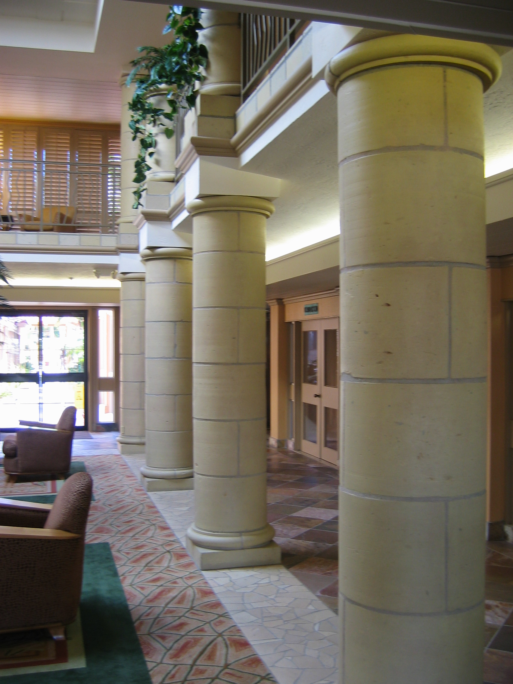 Faux Limestone Columns HANDPAINTED BY PAUL MAXWELL GODFREY