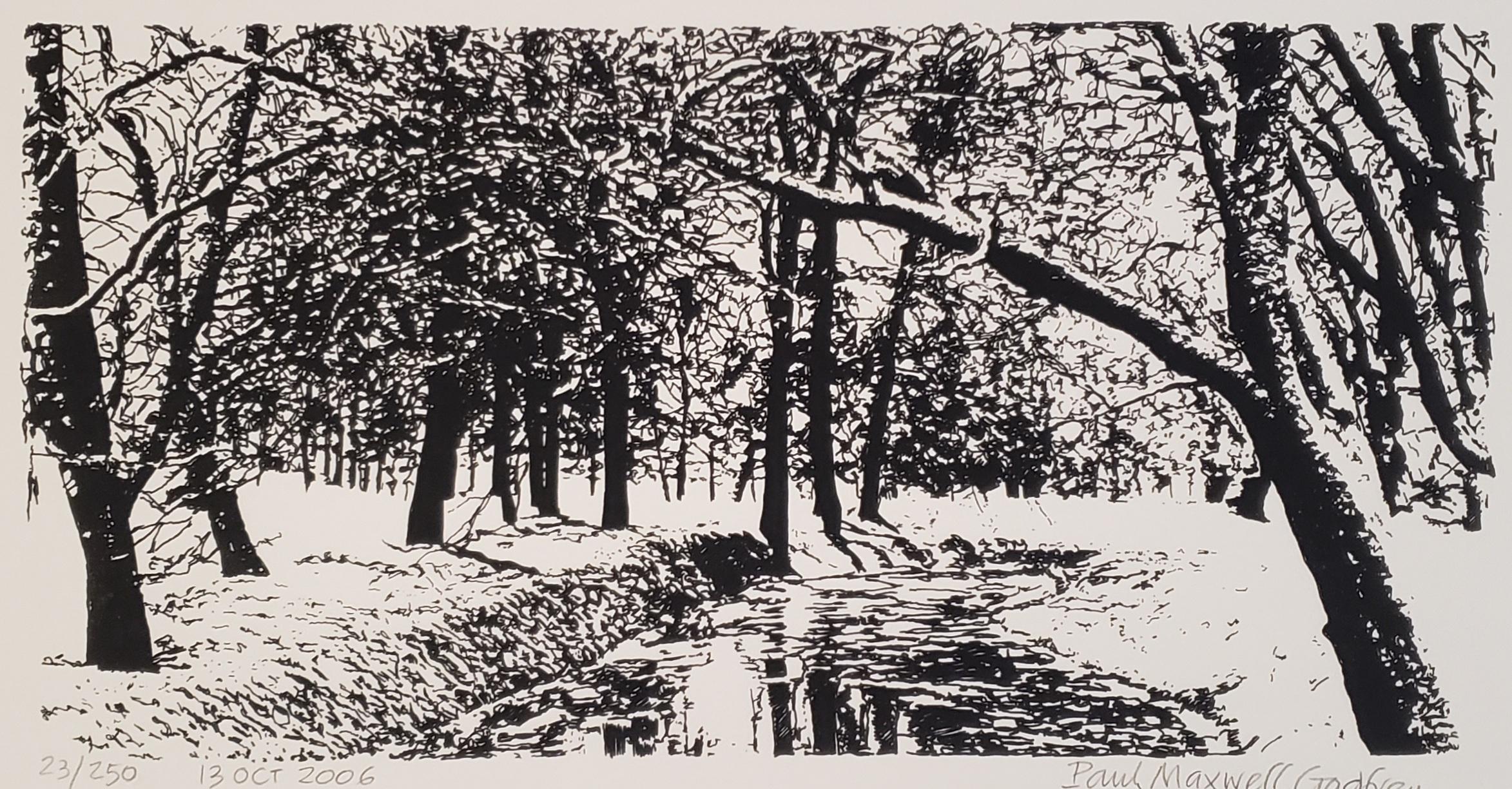 FOREST AT WINTER CREATED BY PAUL MAXWELL GODFREY