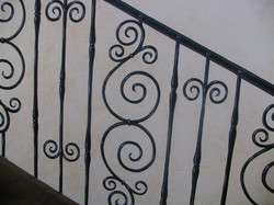 Handpainted Wall Staircase. (Detail)