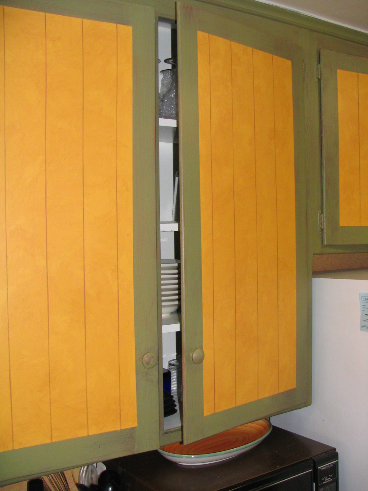 (AFTER). Faux Cabinets.