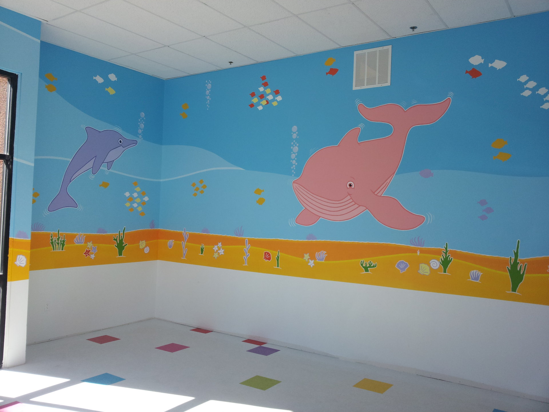 HANDPAINTED MURAL FOR KIDS CREATED BY PAUL MAXWELL GODFREY