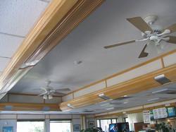 (BEFORE). Plain Ceiling.
