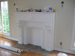 (BEFORE).  Fireplace.