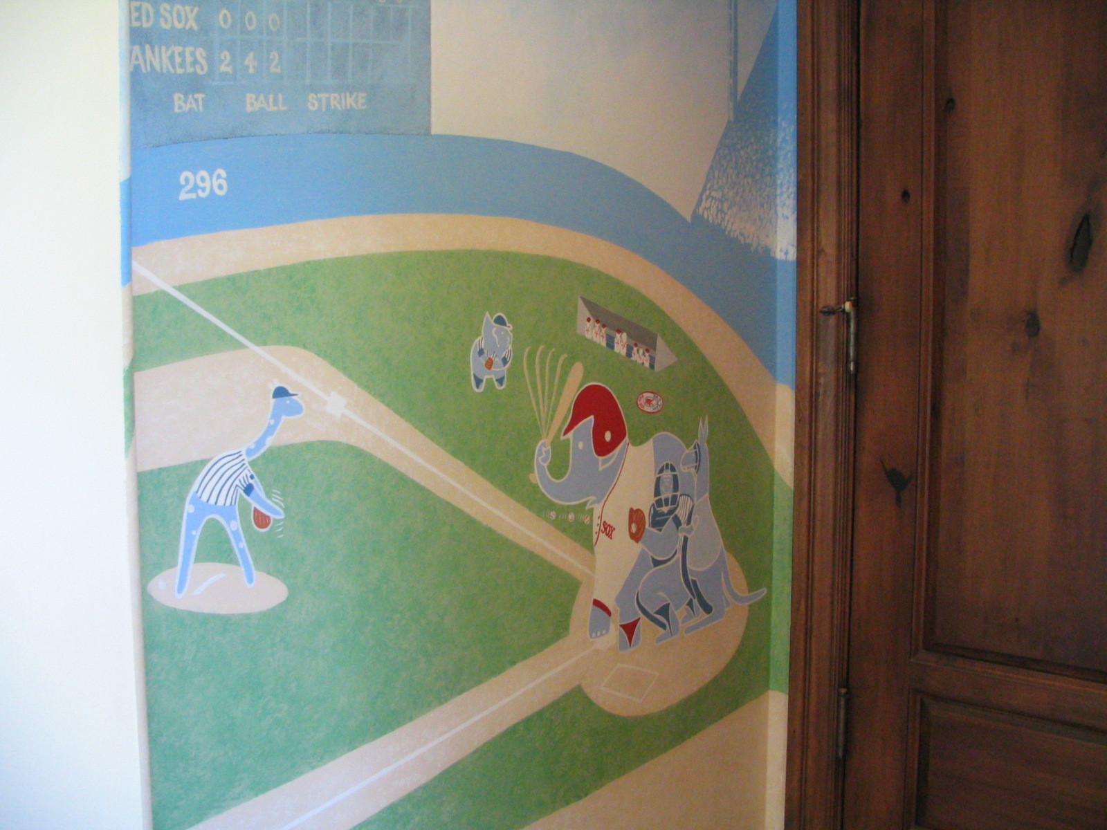 Wall Mural Baseball game CREATED BY PAUL MAXWELL GODFREY