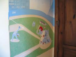 Wall Mural Baseball game CREATED BY PAUL MAXWELL GODFREY