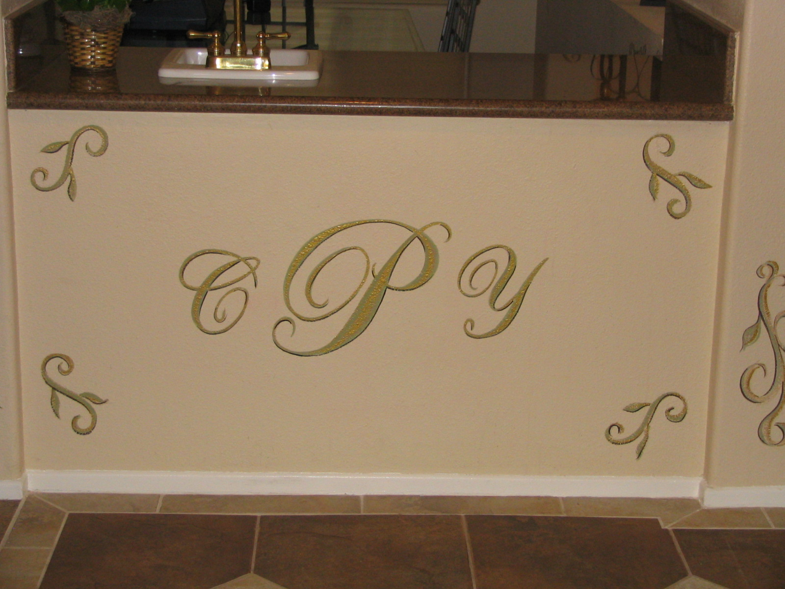 Handpainted sign and design