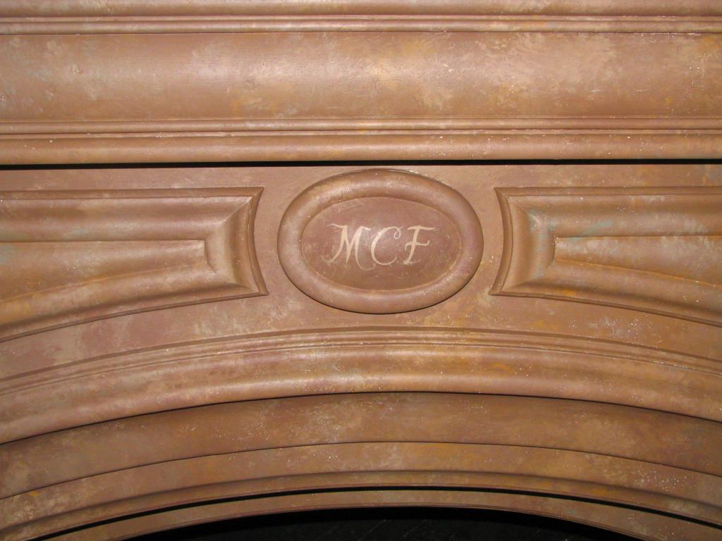 Marble Faux Fireplace. (Detail).