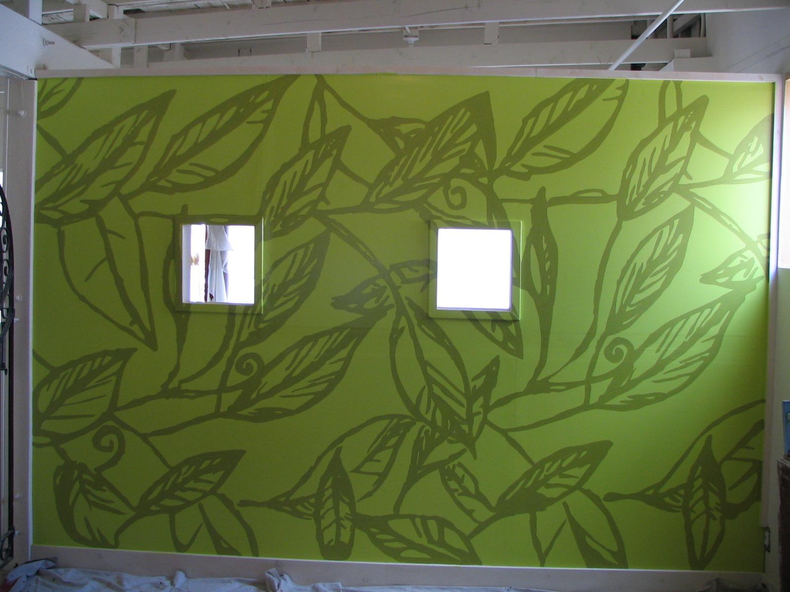 Handpainted Wall Graphic.