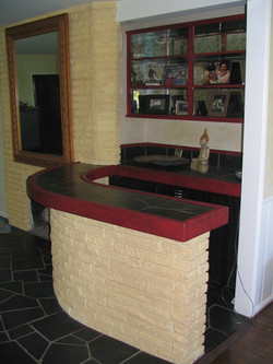 (AFTER) Bar area Faux Stone Walls CREATED BY PAUL MAXWELL GODFREY