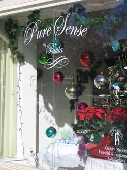Handpainted window sign