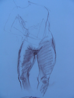 SKETCH Conte pencil CREATED BY PAUL MAXWELL GODFREY