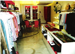 Interior Boutique floor 23 Gold Leaf Swirls CREATED BY PAUL MAXWELL GODFREY