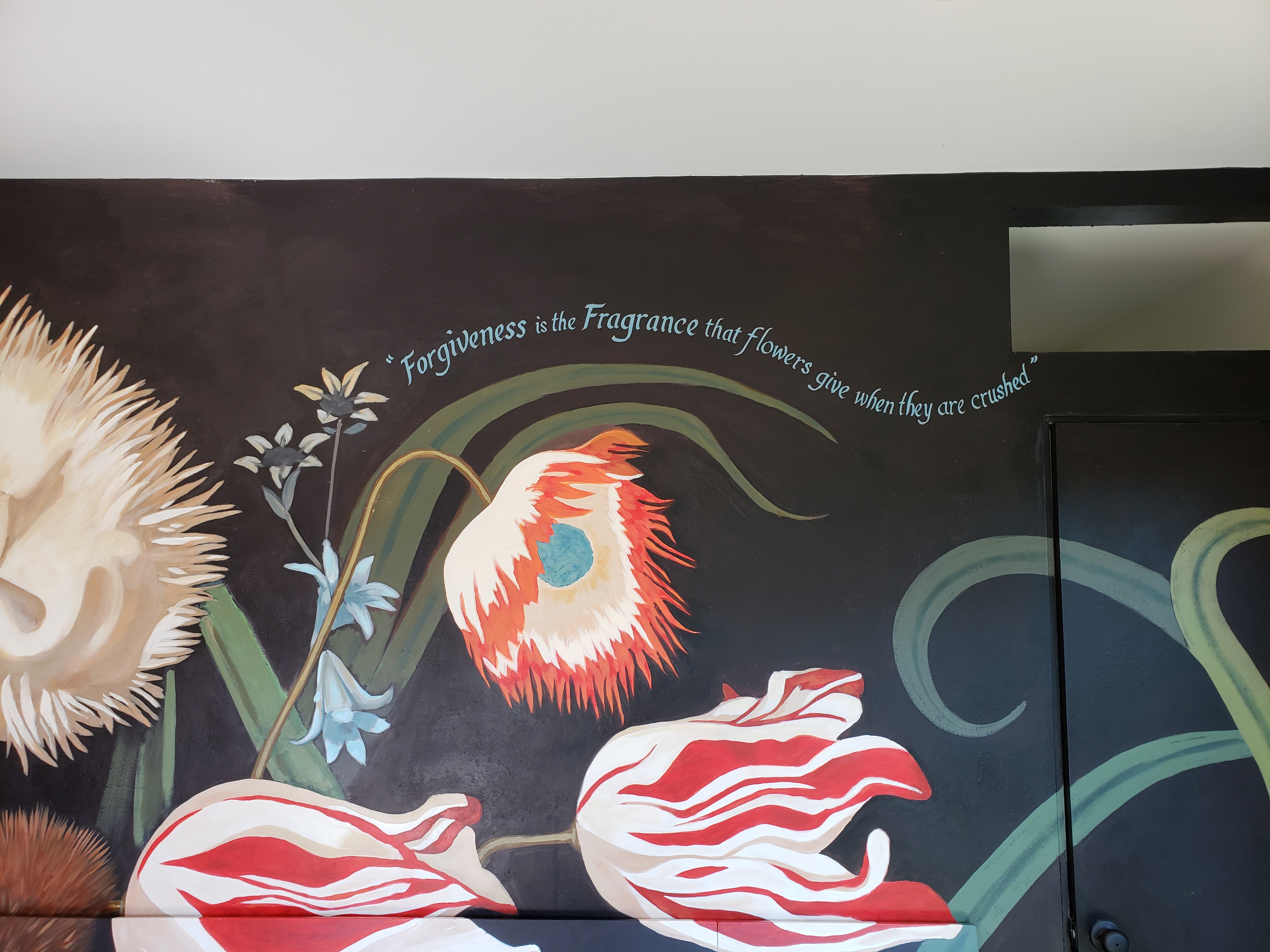 HANDPAINTED MURAL DETAIL CREATED BY PAUL MAXWEL
