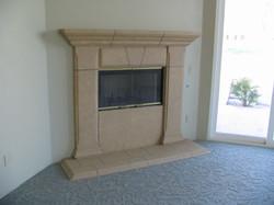 Sandstone Faux Fireplace